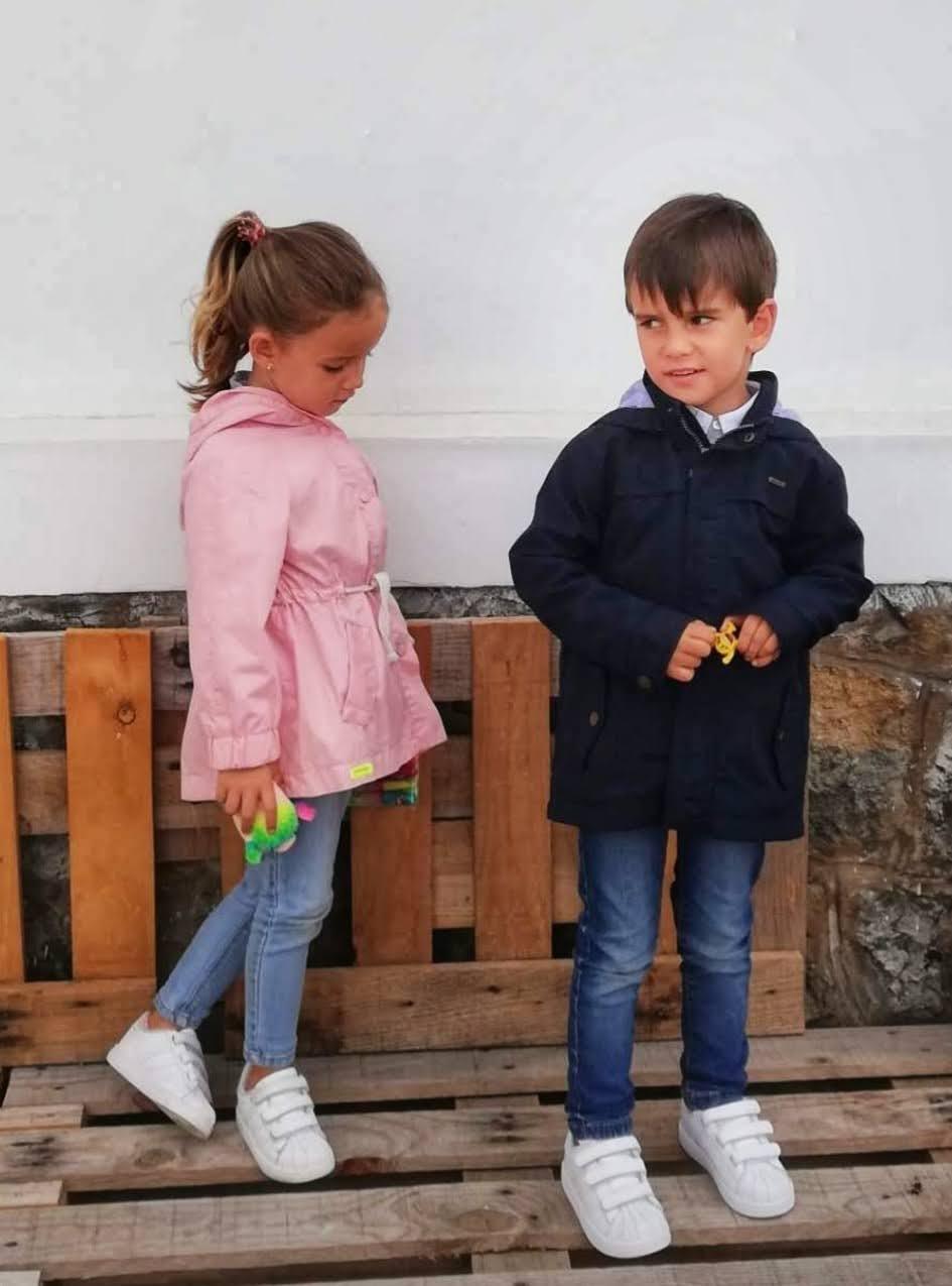 nicolás y valentina con cuatro años